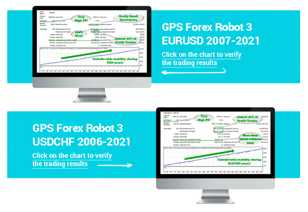 GPS Forex Robot. Developers provide 2 backtest reports on their sales page