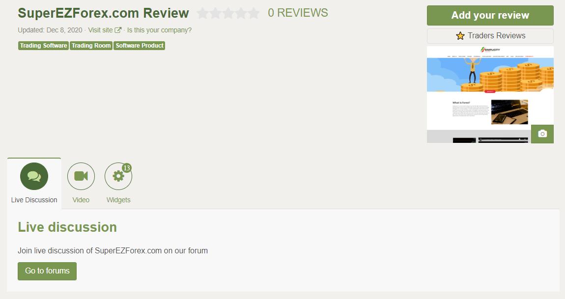 Super EZ Forex People feedback