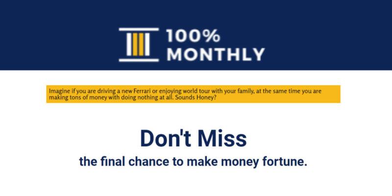100% Monthly Header
