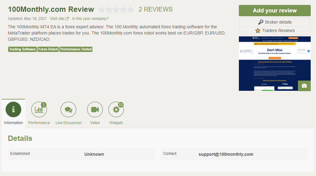 100% Monthly Review