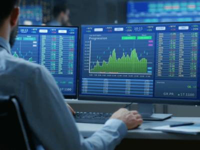 A trader at work(image)