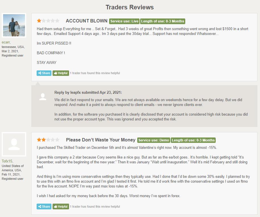 Traders Reviews