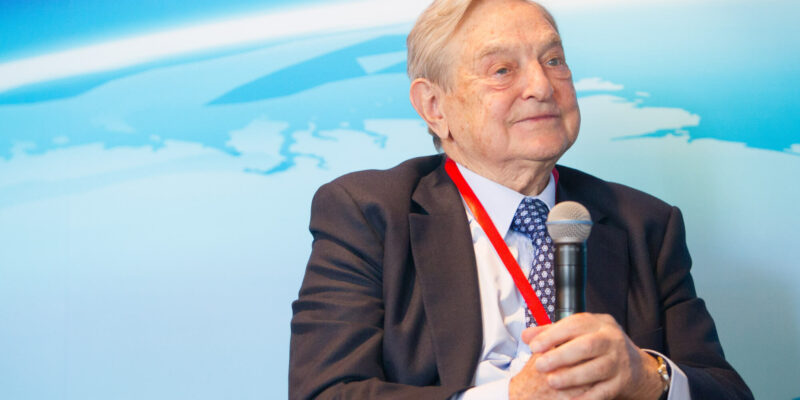 Billionaire investor George Soros, chairman of Soros Fund Management and founder of The Open Society Institute