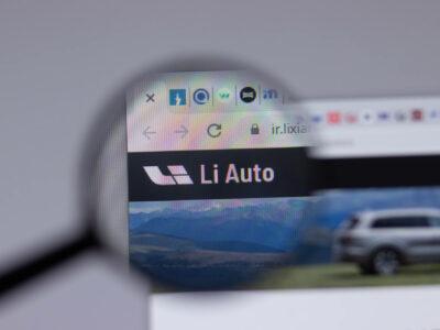 Li Auto company logo icon on website,
