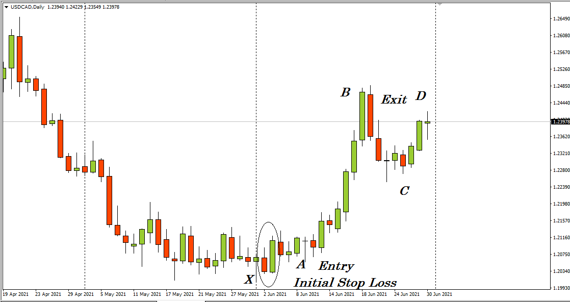 The Daily chart of USD/CAD