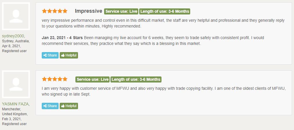 MFWU user reviews