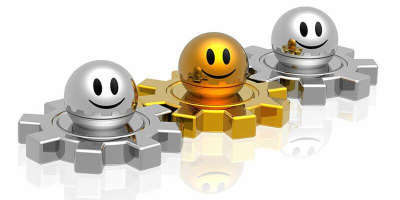 Business team work with golden leader