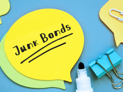 Business concept about Junk Bonds with sign on the sheet.