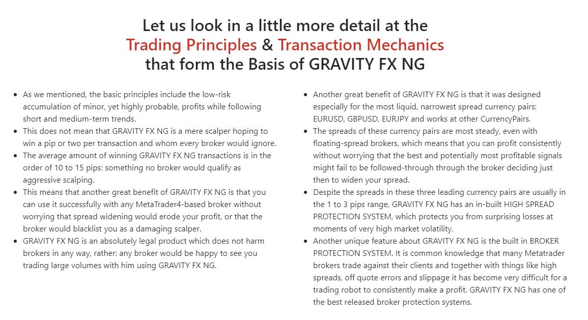 Gravity FX NG details