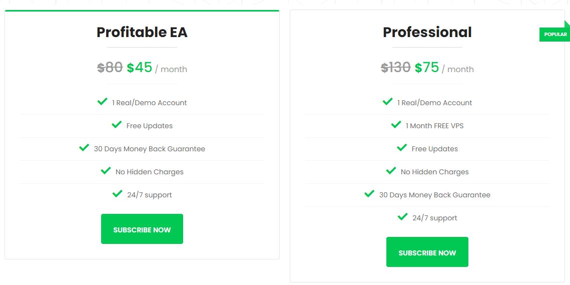 Green Graph EA pricing