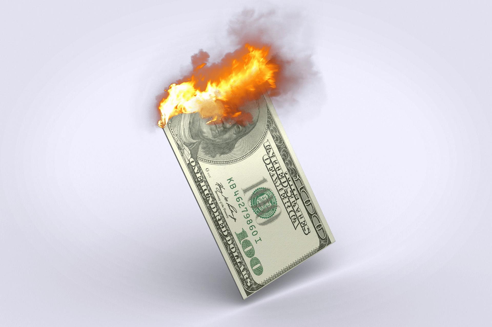 The dollar is burning