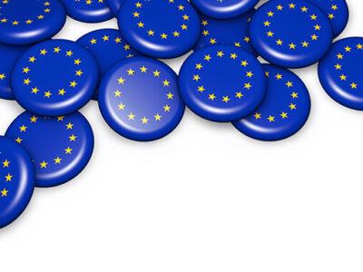European Union flag on badges