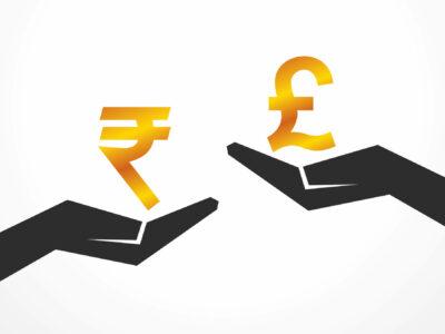 rupee & pound