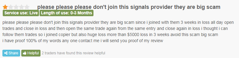 Customer saying this provider is a big scam