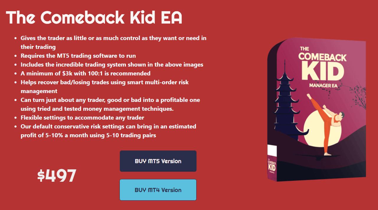 The Comeback Kid EA pricing