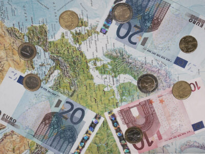 Euro on the map