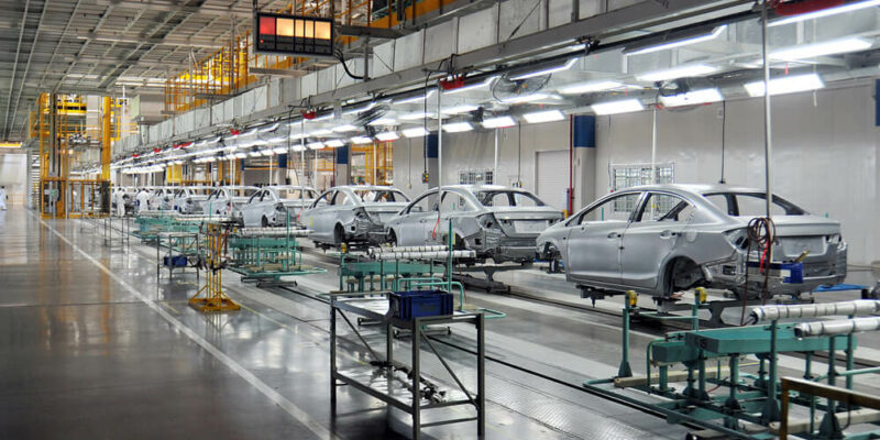 Cars are manufactured