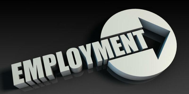Employment Concept With an Arrow Going Upwards 3D