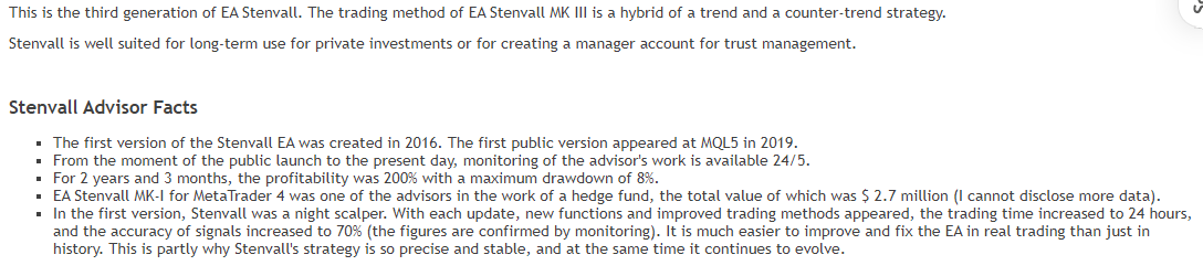 Features of Stenvall Mark III EA